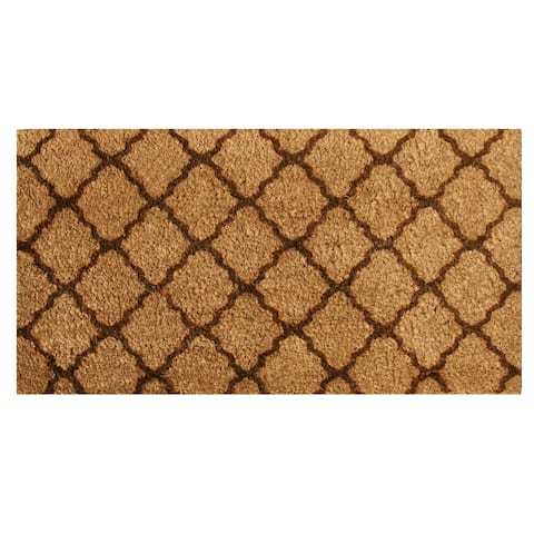 "Rubber-Cal ""The Moroccan"" Coir Mats - 18"" x 30"" - Brown or Green"