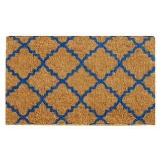 "Rubber-Cal ""Casablanca"" Coir Mats - 18"" x 30"" - Blue or Brown"