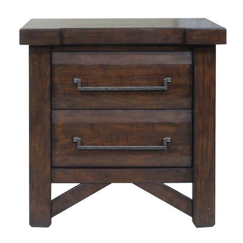 Tacoma Rustic 2-Drawer Nightstand by Greyson Living