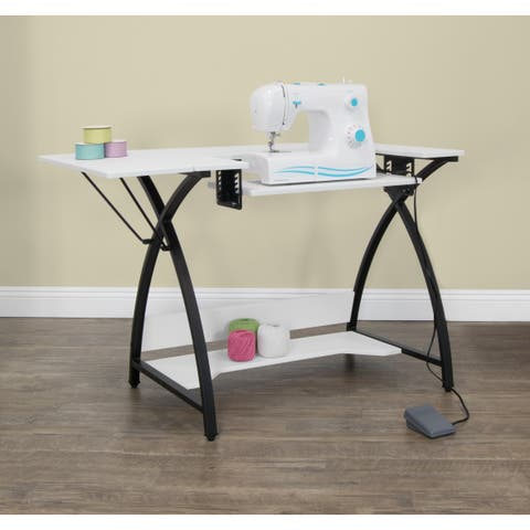 Studio Designs Comet Hobby And Sewing Table Black White