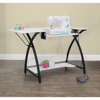 Studio Designs Comet Hobby and Sewing Table - Black / White