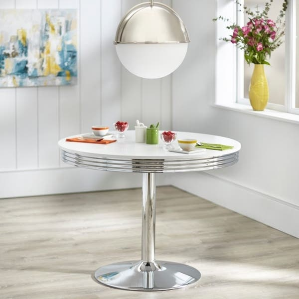 Shop Simple Living Raleigh Retro Dining Table - White - Free ...