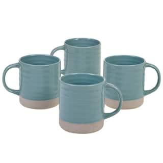 Certified International Artisan 22-ounce Mugs, Set of 4