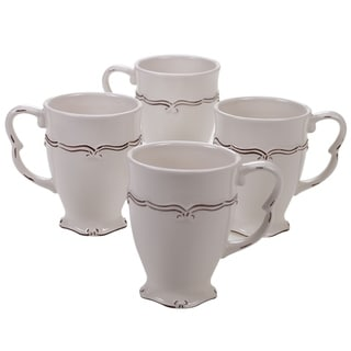 Certified International Vintage 20-ounce Mugs, Set of 4