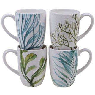 Link to Certified International Sea Green 22-ounce Mugs (Set of 4) Similar Items in Dinnerware