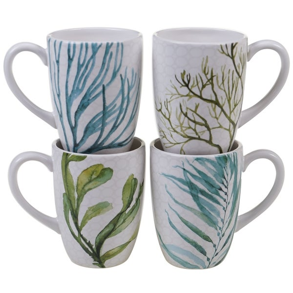 Certified International Sea Green 22-ounce Mugs (Set of 4). Opens flyout.