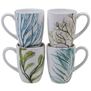 Certified International Sea Green 22-ounce Mugs (Set of 4)