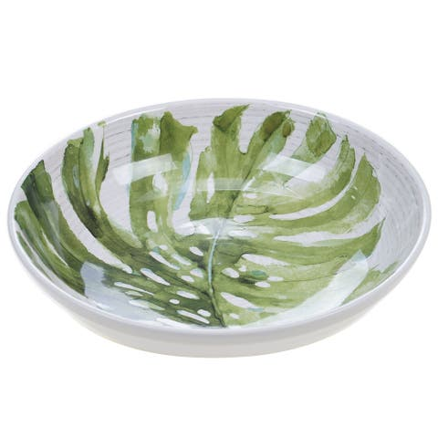 Certified International Palm Leaves Serving/Pasta Bowl