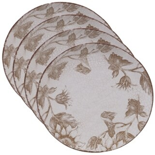 Certified International Toile Rooster 10.75-inch Dinner Plates (Set of 4)