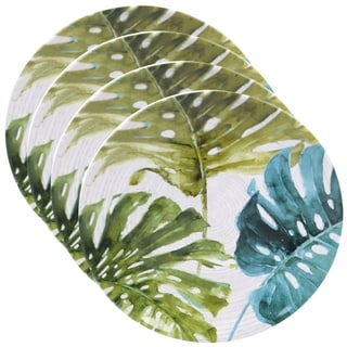 Certified International Palm Leaves 10.75-inch Round Dinner Plates (Set of 4)