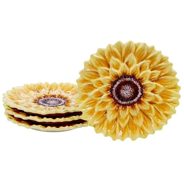 Shop Certified International Sunset Sunflower 825 Inch 3 D Dessert