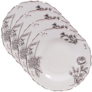 Certified International Vintage Cream with Floral 11-inch Dinner Plates (Set of 4)