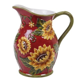 Certified International Sunset Sunflower Pitcher