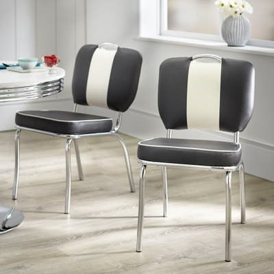 Simple Living Raleigh Retro Dining Chairs (Set of 2)