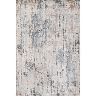 "Momeni Dalston Machine Made Polypropylene and Polyester Grey Area Rug - 5'3"" x 7'6"""