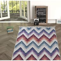 Chiara Rose Machine Washable Decorative Modern Non-skid Rubber Backing Bath Kitchen Living Room İndoor Outdoor Area Rug