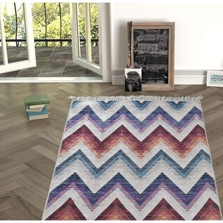 Chiara Rose Decorative Modern Non-skid Rubber Backing Area Rug