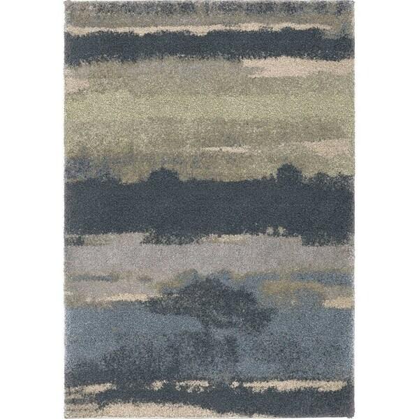 """Orian Rugs Portland Canyon Soft Blue Area Rug - 7'10"""" x 10'10"""""""