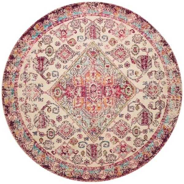 Pink And Grey Round Rug Area Rug Ideas