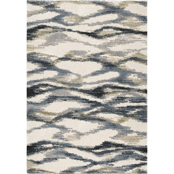 Shop Orian Rugs Portland Seacliff Muted Blue Area Rug (7