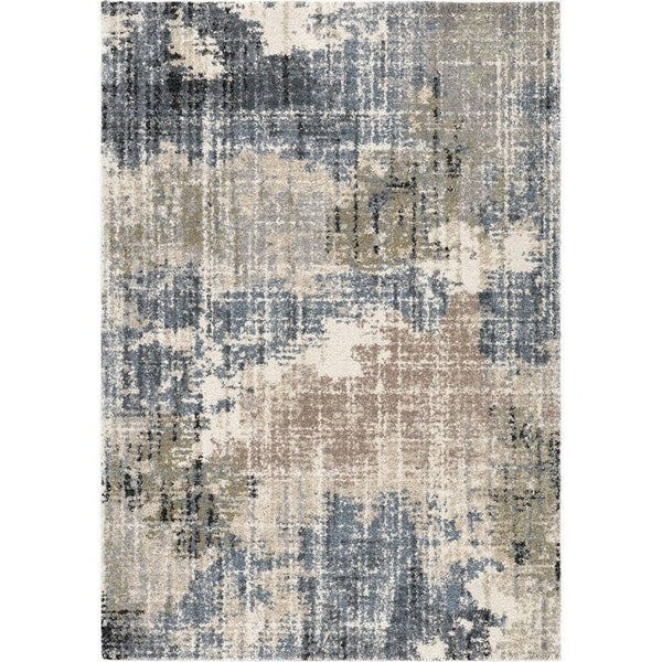 Shop Orian Rugs Portland Basque Muted Blue Area Rug 5 3