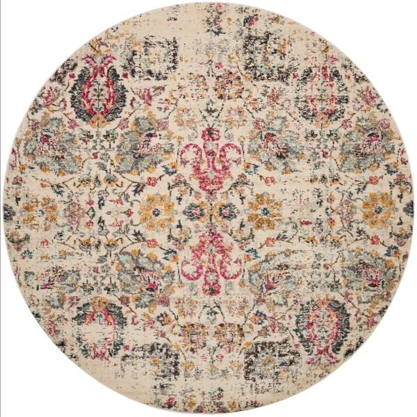 Shop Vintage Bohemian Ivory Multi Pink Floral Distressed
