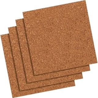 "Quartet Natural Cork Tiles, 12"" x 12"", Frameless"