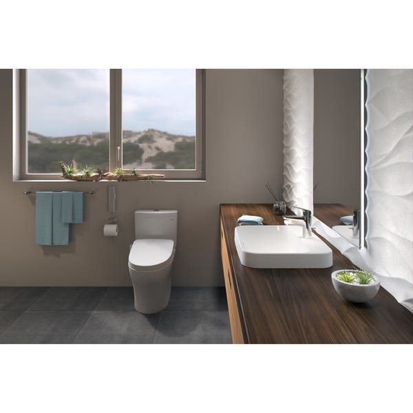 Shop Toto Washlet Kit Aquia Iv 1g 2 Piece Elongated Dual Flush Toilet Washlet S550e Bidet Seat Cotton White Mw4463056cumg 01 Overstock 23154634