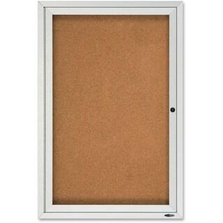 Quartet Enclosed Cork Bulletin Board for Outdoor Use, 2'x 3'