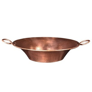 Premier Copper Products 16-inch Round Miners Pan Vessel Copper Sink in Polished Copper