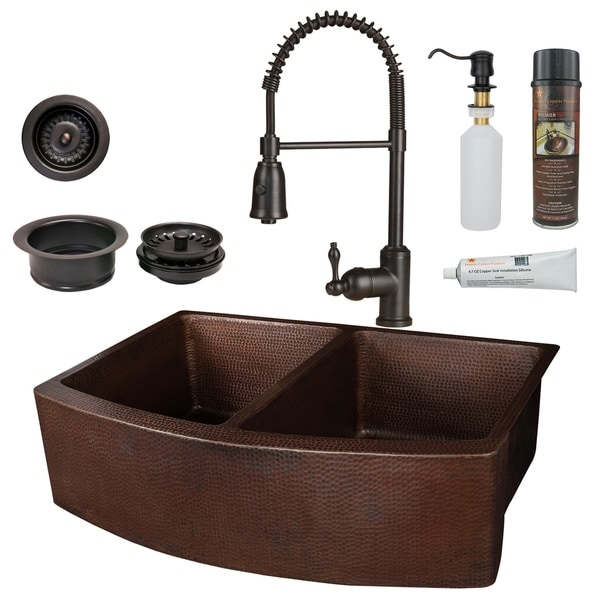 Handmade Kitchen Sink with Faucet and Accessories Package (Mexico)