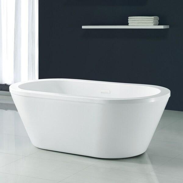 Shop Ove Decors Kaylee 63 In White Freestanding Bathtub