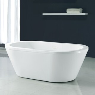 OVE Decors Kaylee 63 in. White Freestanding Bathtub