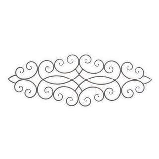 Metal Wall Decoration - Black Finished in Brown - 39 X 0.5 X 14