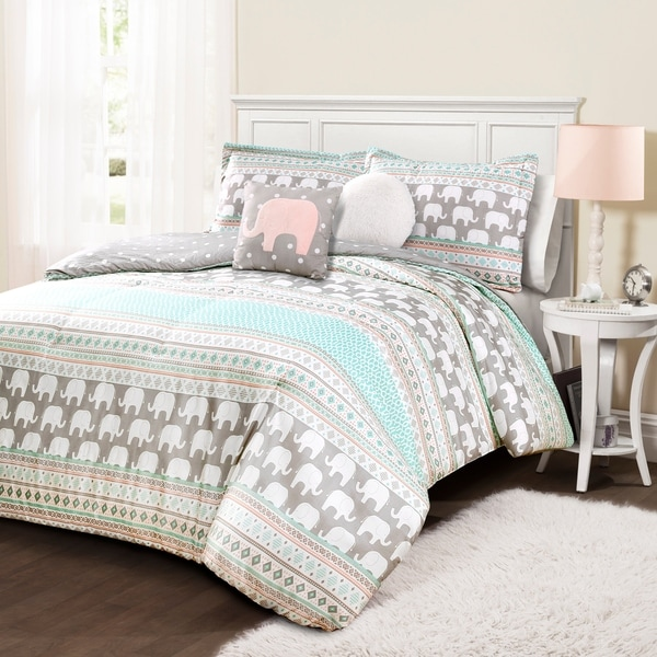 Taylor & Olive Hubbard Elephant Stripe Comforter Set