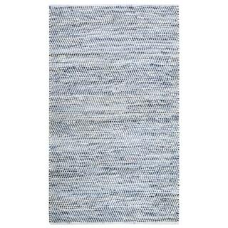 Striped Blue Jeans & Cotton (4'x6') Rug - 4' x 6'