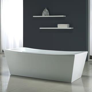 OVE Decors Eleanor 70 in. White Freestanding Bathtub