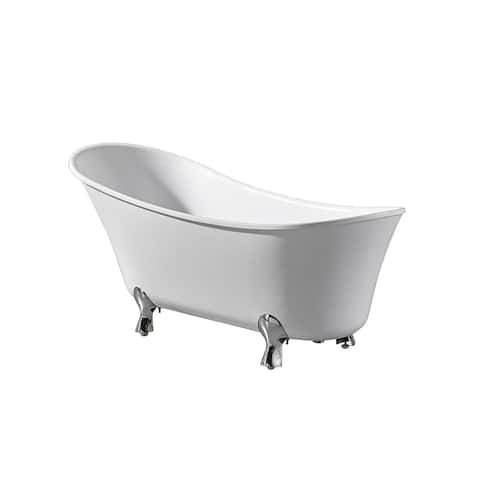 OVE Decors Castor 69 in. White Freestanding Bathtub