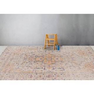 "Ethereal Vintage Pink Area Rug - 8'11"" x 11'11"""