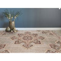 "Ethereal Vintage Beige/ Orange Area Rug - 8'11"" x 11'11"""