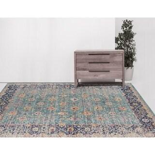 "Ethereal Vintage Turquoise Area Rug - 7'6"" x 9'6"""