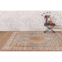 """Ethereal Vintage Gold Area Rug - 3'11"""" x 5'11"""""""