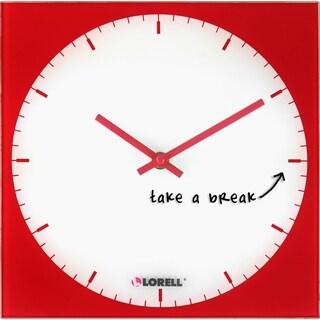 Lorell Wall Clock - Analog, Red
