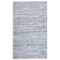Striped Blue Jeans & Cotton (9'x12') Rug - 9' x 12'