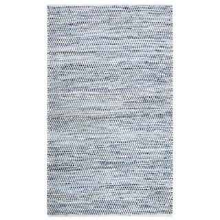 Striped Blue Jeans & Cotton (9'x12') Rug - 9' x 12'