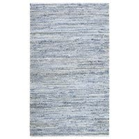 Striped Blue Jeans & Cotton (8'x10') Rug - 8' x 10'