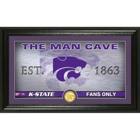 Kansas State University Man Cave Bronze Coin Panoramic Photo Mint