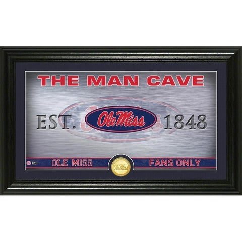 University of Mississippi Man Cave Bronze Coin Panoramic Photo Mint