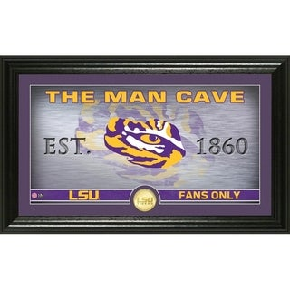 Louisiana State University Man Cave Bronze Coin Panoramic Photo Mint