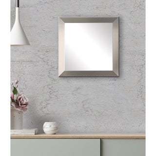 Embossed Silver Square Wall Mirror - 19.5 x 19.5